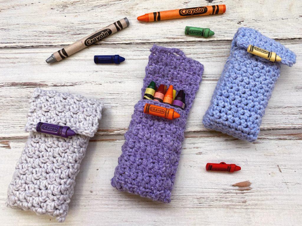 crochet crayon holders