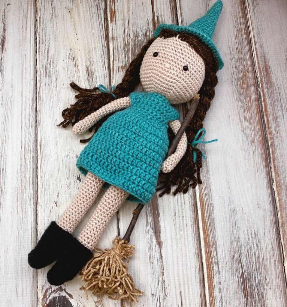 halloween crochet doll