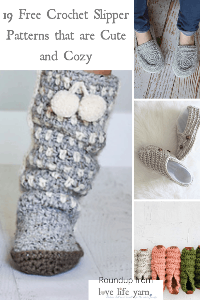 19 Free Crochet Slipper Patterns That Are Cute And Cozy Love Life Yarn