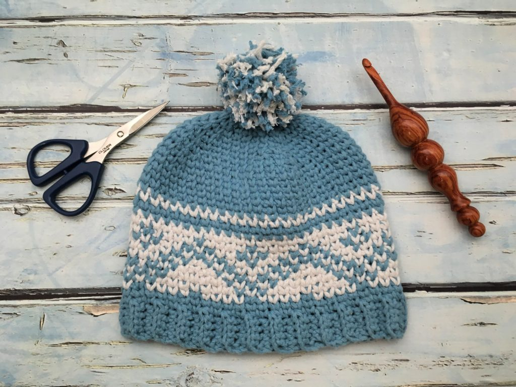 Free Crochet Pattern - Fair Isle Baby Hat