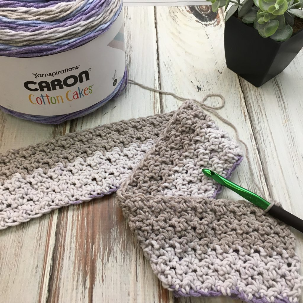 Free Crochet Pattern - Amethyst Sky Baby Blanket with video tutorial