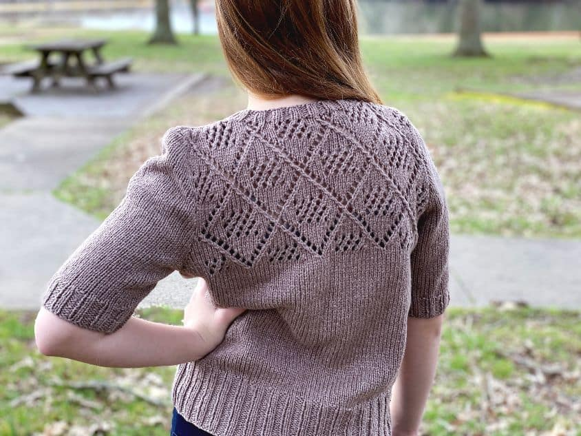 Knit Tee Pattern Back