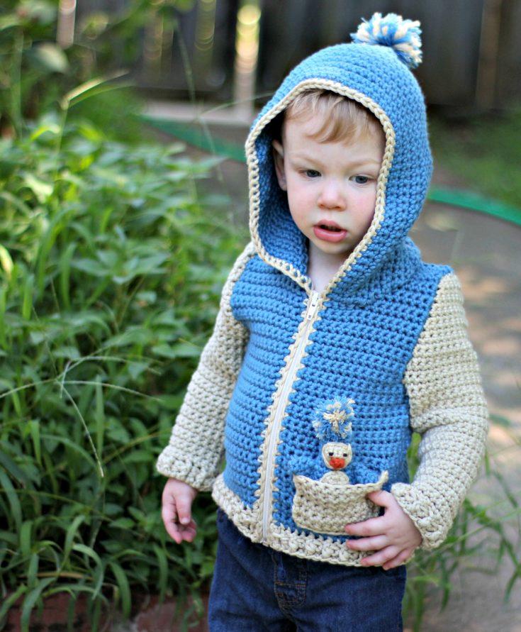 Penguin Pal Hoodie - Free Crochet Pattern