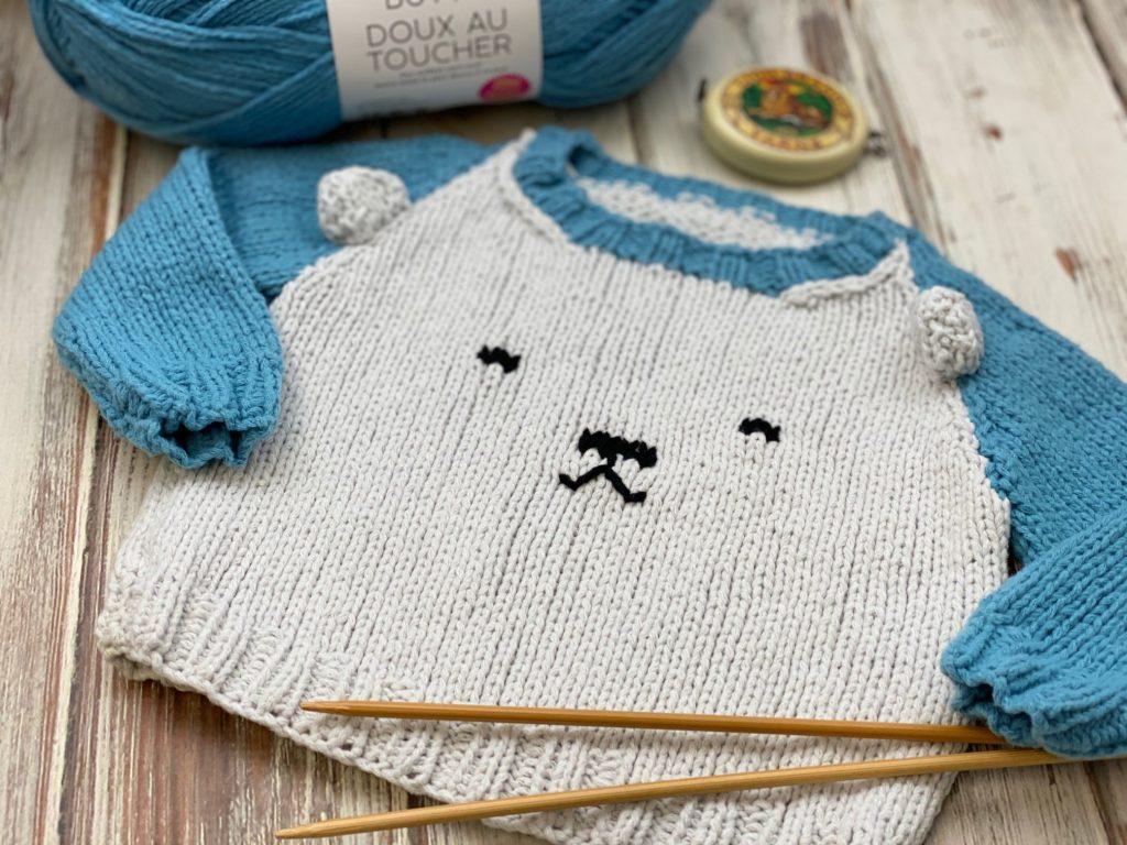 Free Knitting Pattern - Polar Bear Sweater