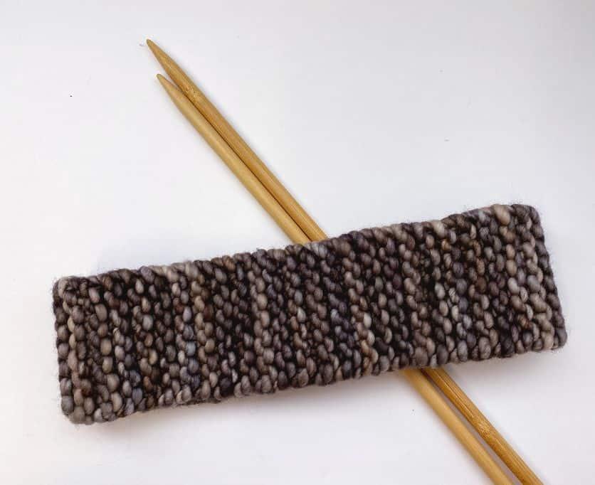 simple knit headband flat